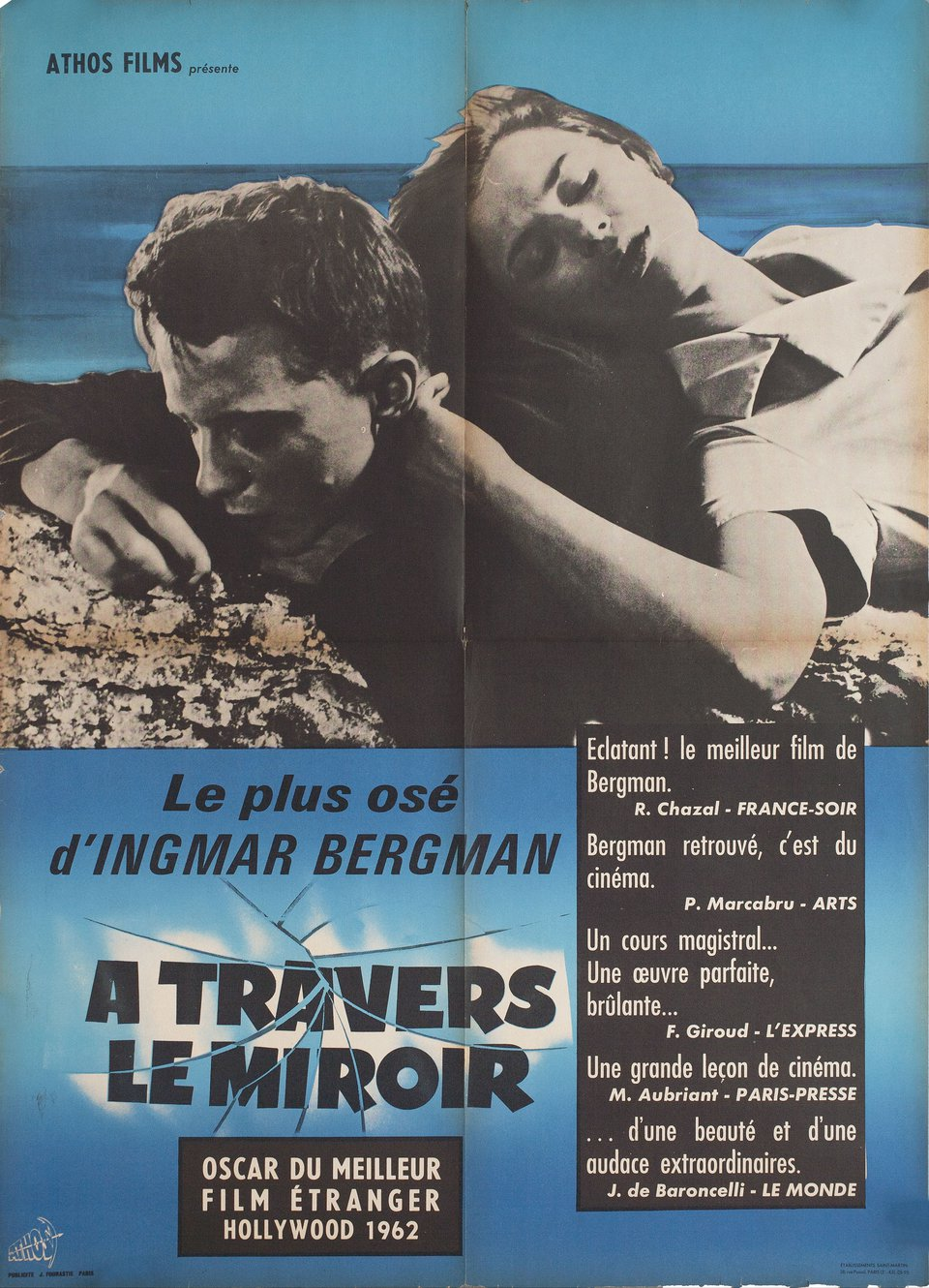 Through a Glass Darkly 1961 French Moyenne Poster