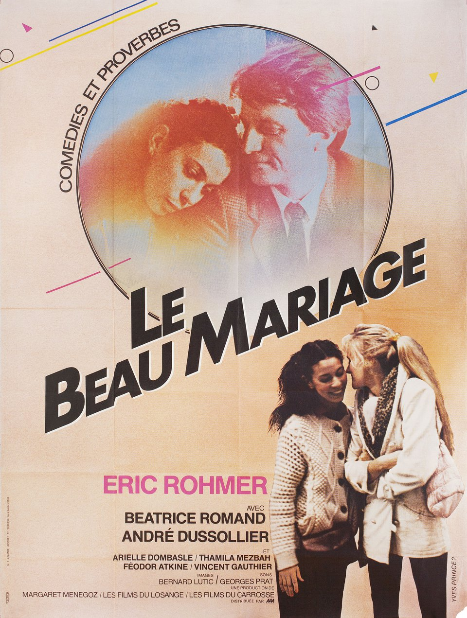 Le beau mariage 1982 French Grande Poster