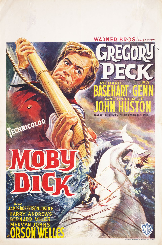 Moby Dick 1956 Belgian Poster