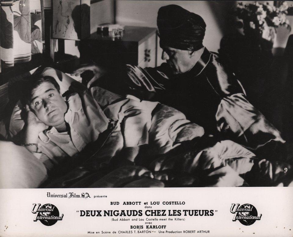 Abbott and Costello Meet the Killer, Boris Karloff 1950 French Scene Card
