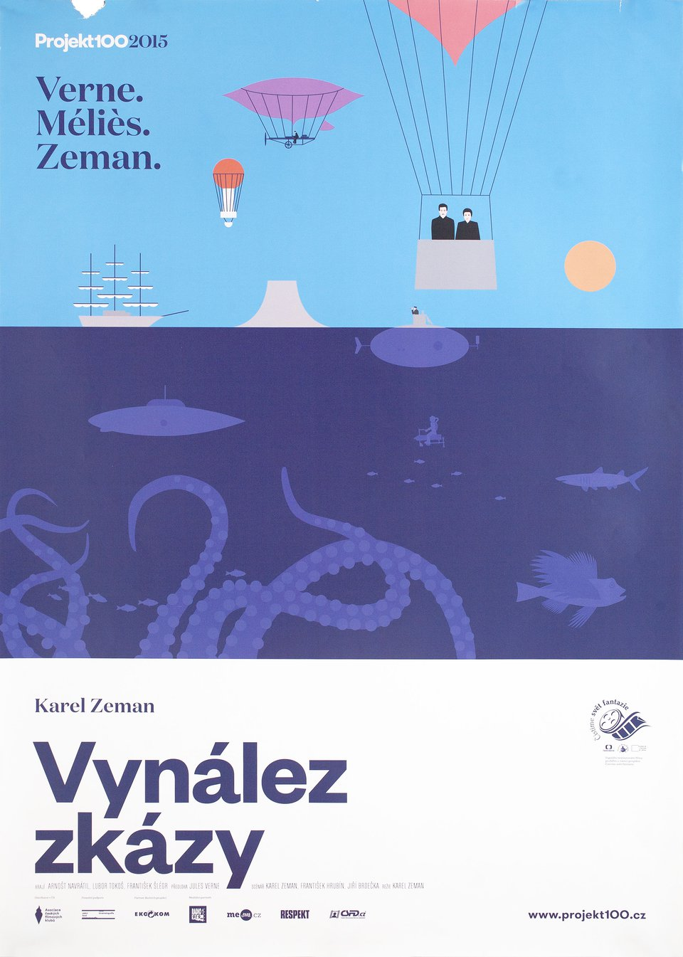 The Fabulous World of Jules Verne R2015 Czech A1 Poster