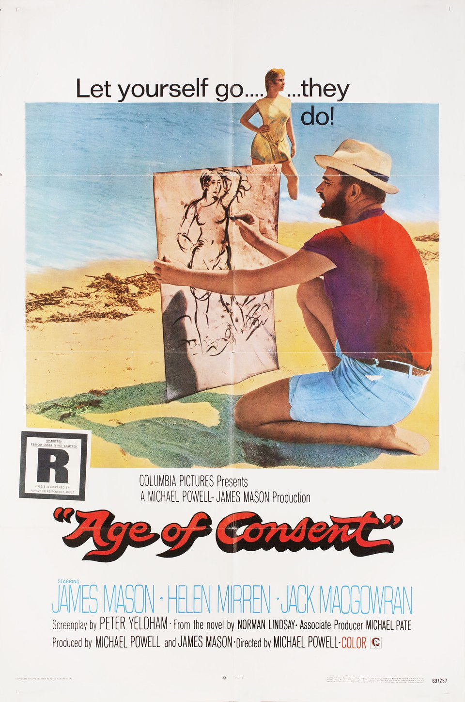 Age of Consent 1969 U.S. One Sheet Poster