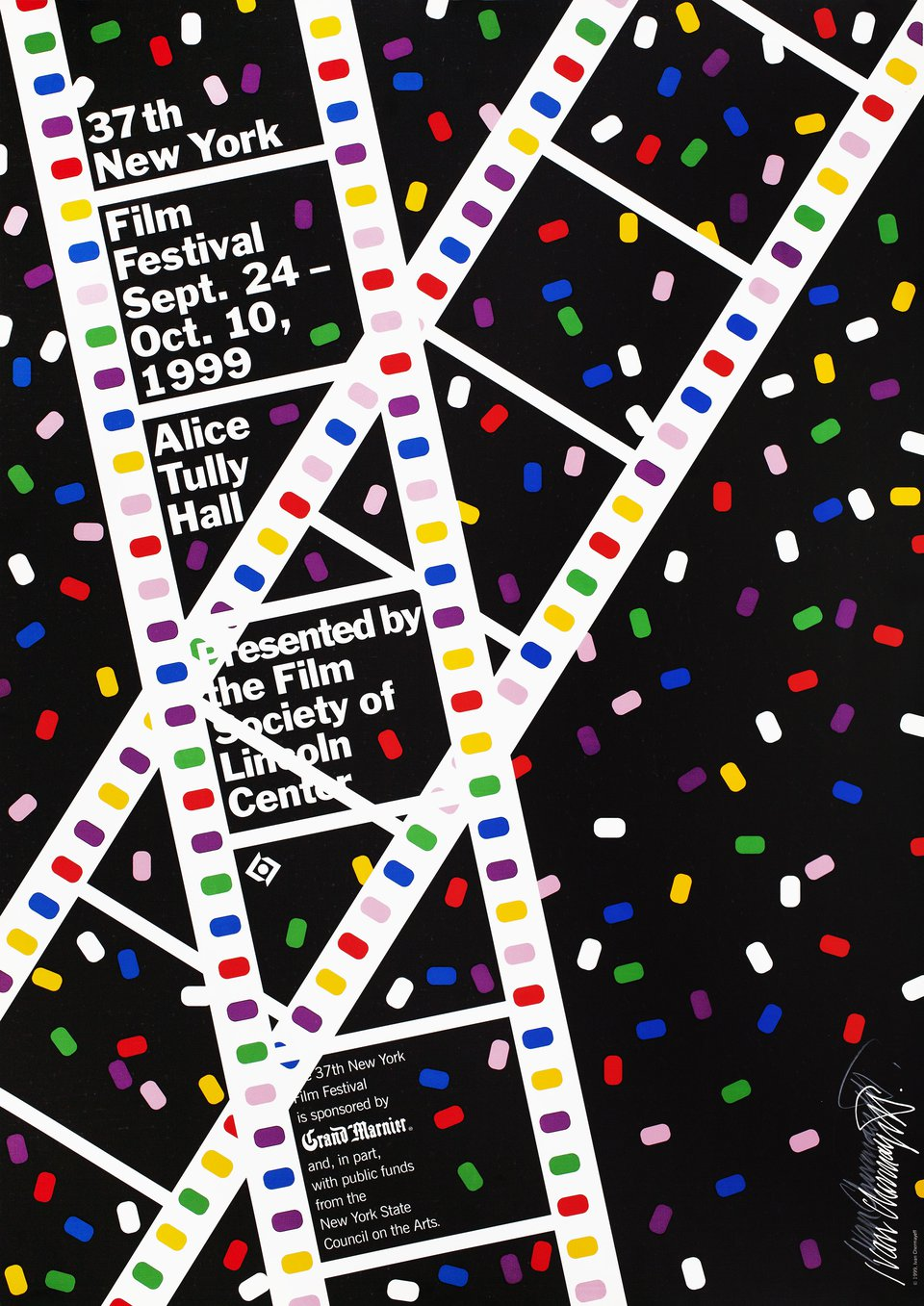 37th New York Film Festival 1999 U.S. A1 Poster Signed