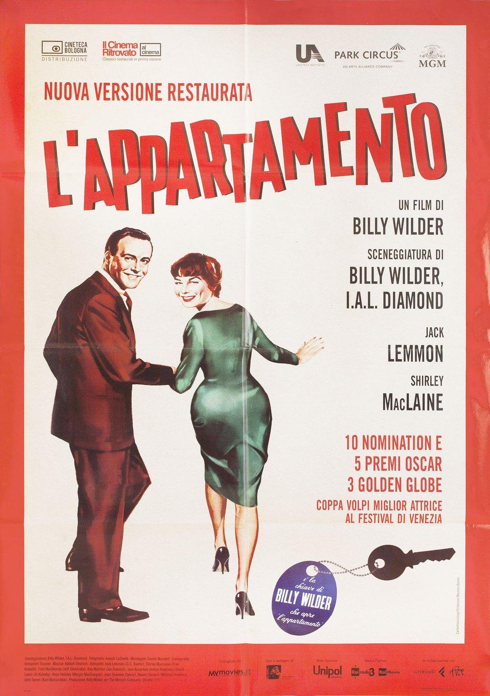 The Apartment R2018 Italian Due Fogli Poster