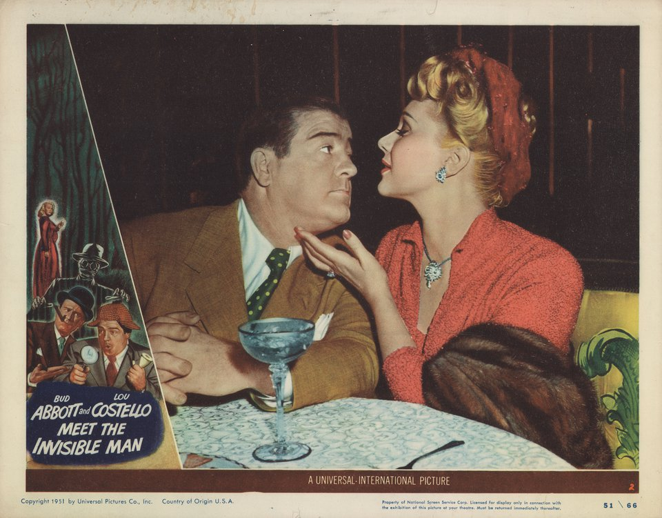 Abbott and Costello Meet the Invisible Man 1951 U.S. Scene Card