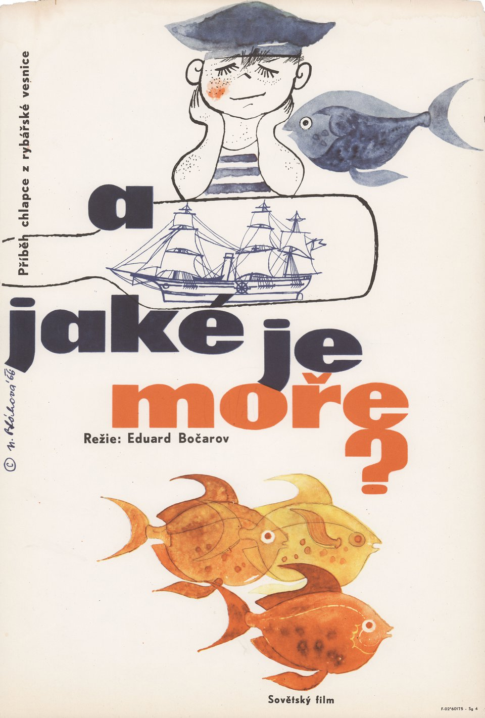 What Is the Sea like? 1966 Czech A3 Poster