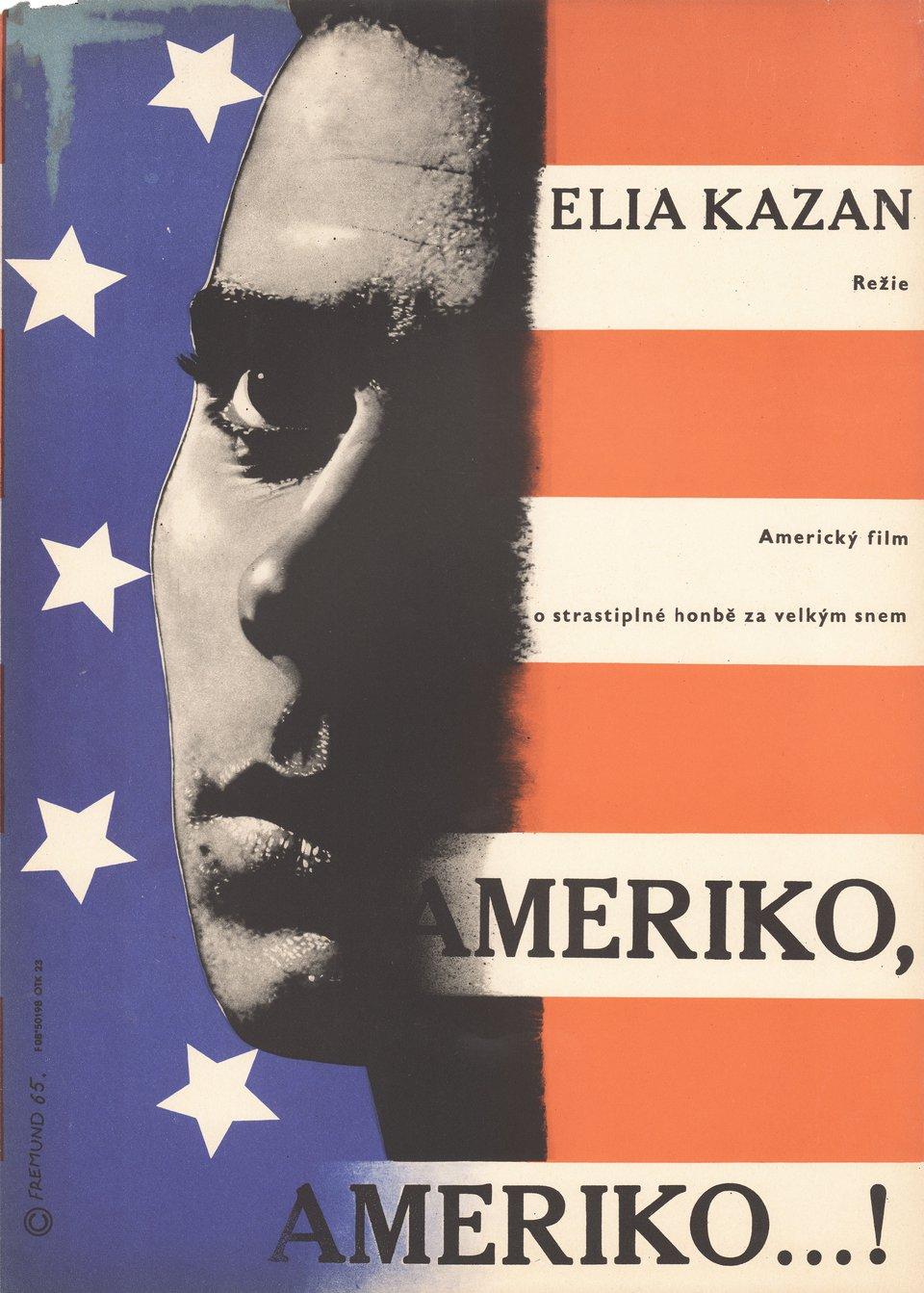America, America 1965 Czech A3 Poster