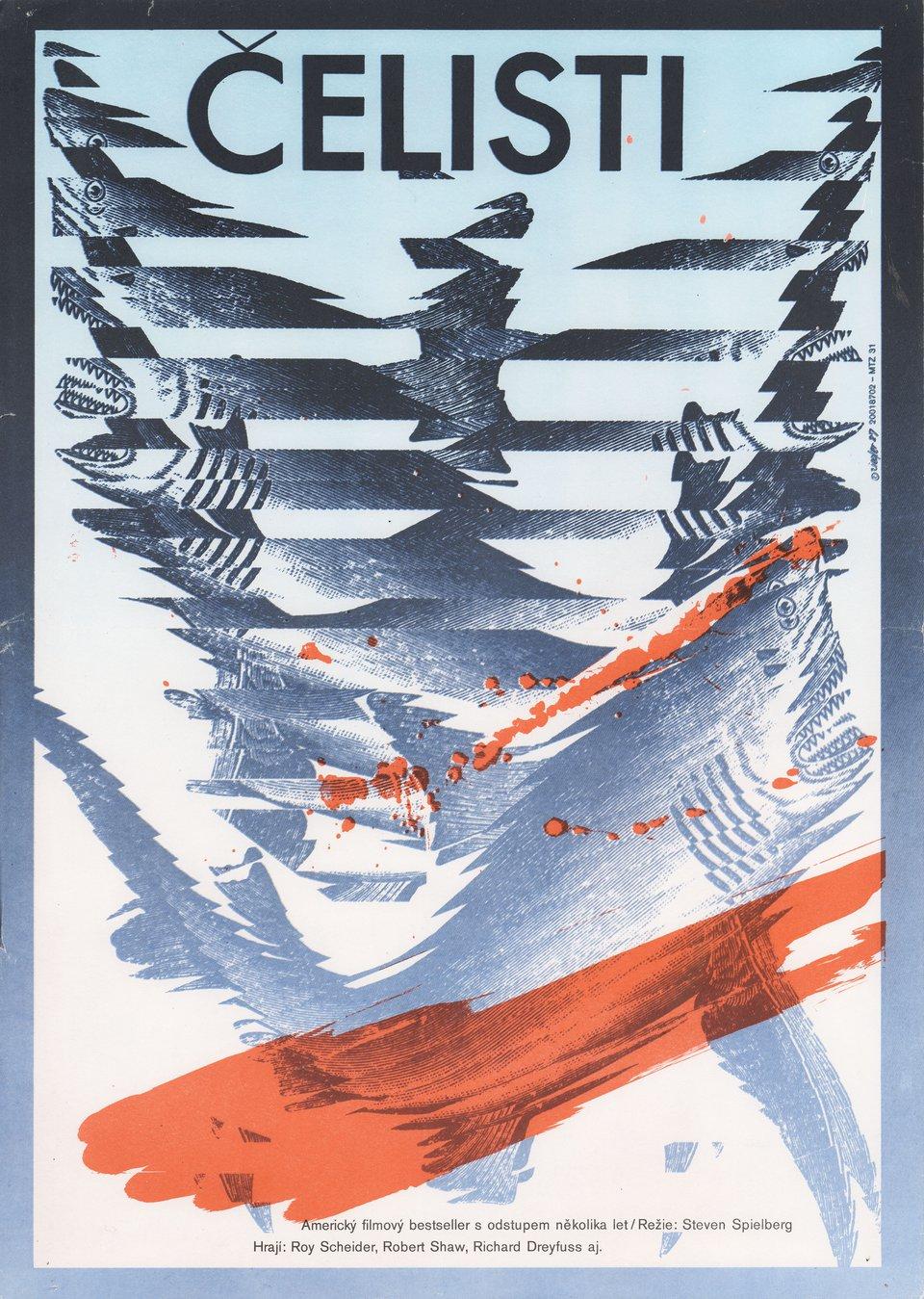 Jaws R1987 Czech A3 Poster