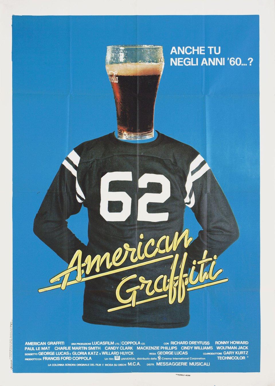 American Graffiti R1970s Italian Due Fogli Poster