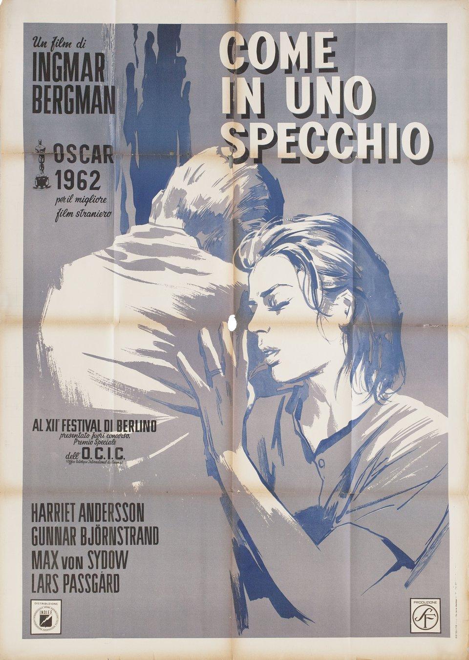 Through a Glass Darkly 1962 Italian Due Fogli Poster