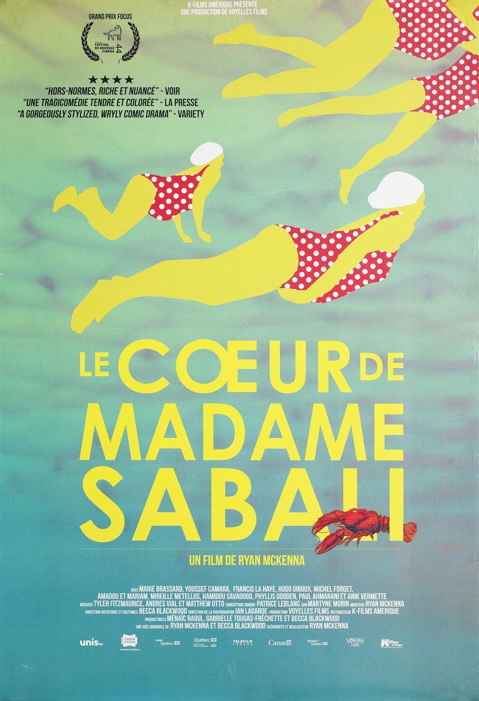 Le coeur de madame Sabali 2015 Canadian A1 Poster