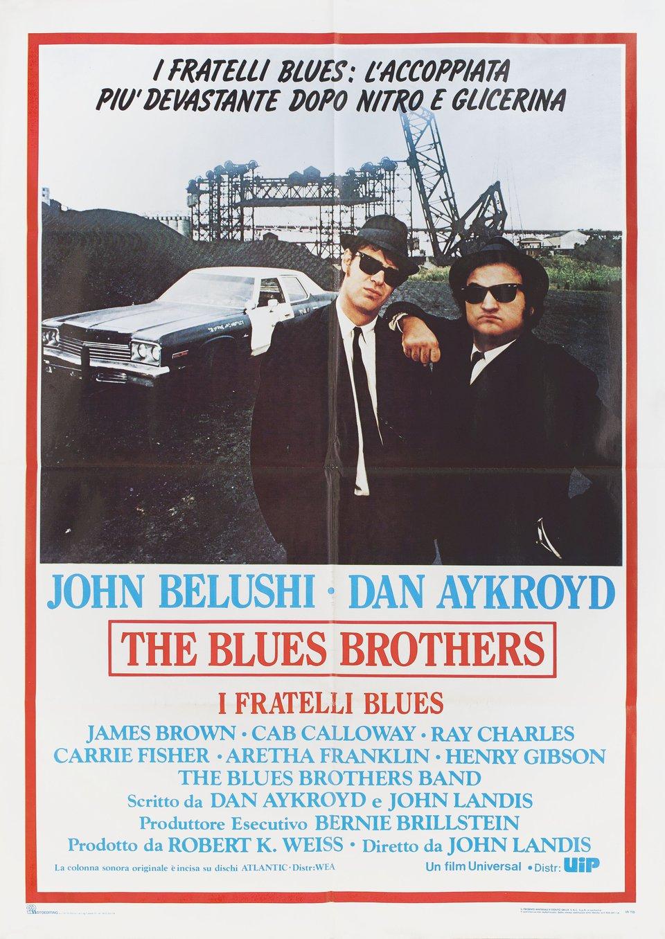 The Blues Brothers R1990s Italian Due Fogli Poster