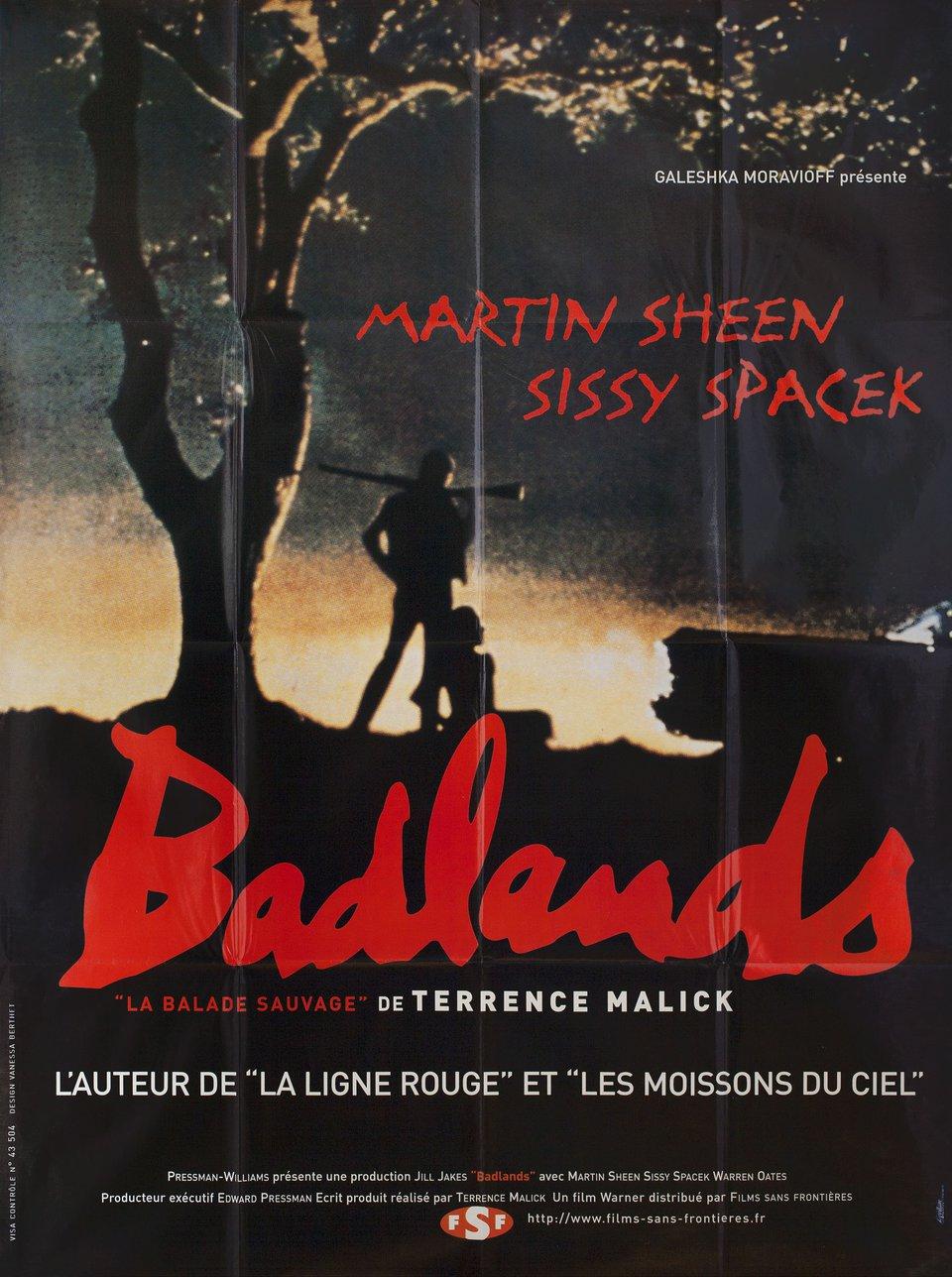 Badlands R1990s French Grande Poster