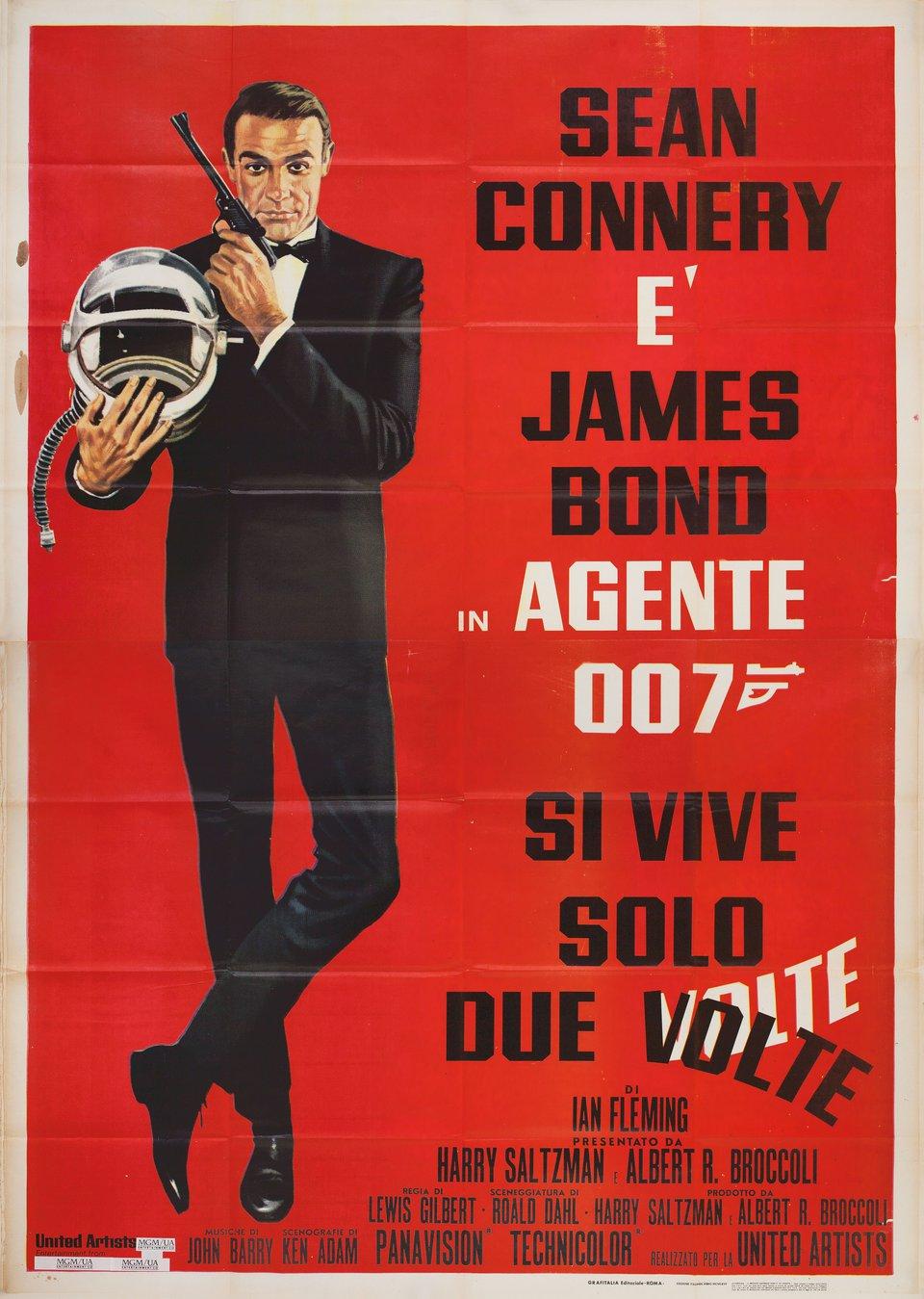 You Only Live Twice R1970s Italian Quattro Fogli Poster