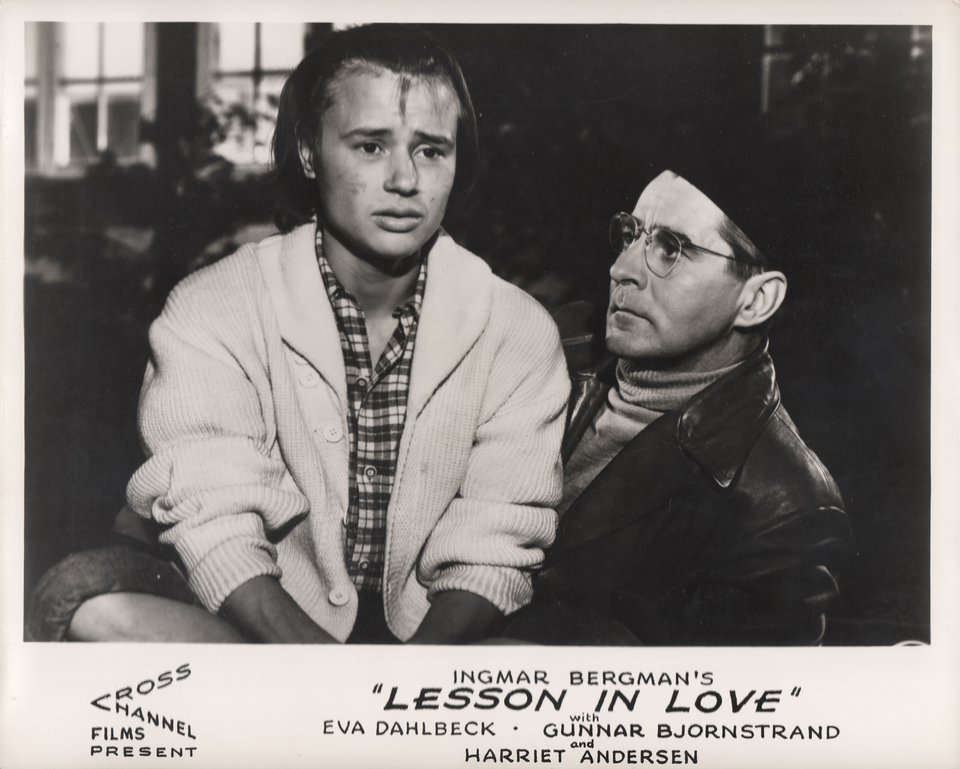 A Lesson in Love 1954 British Front of House Card