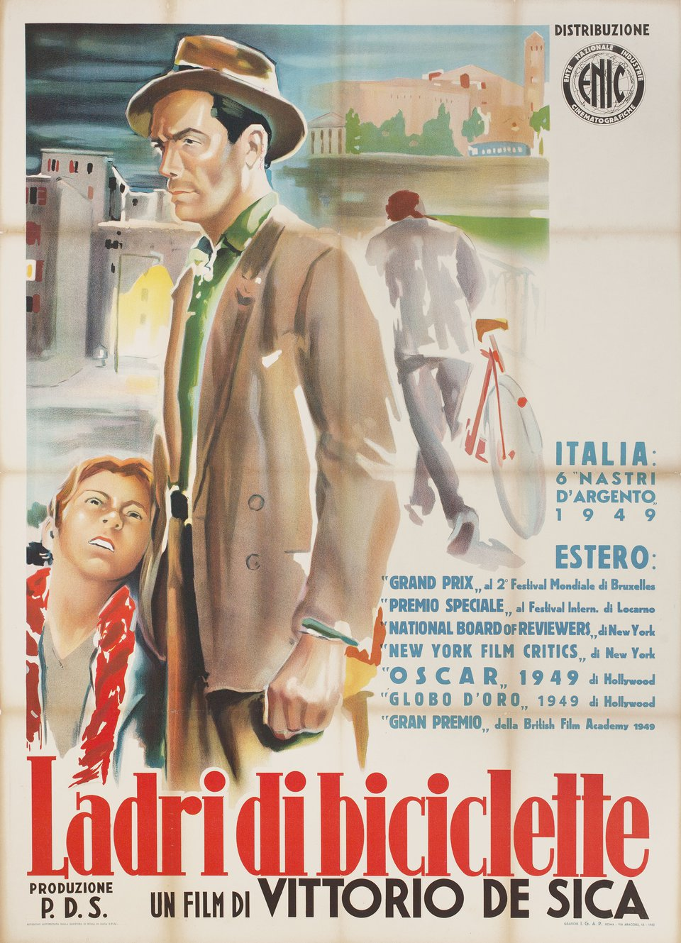 The Bicycle Thief R1952 Italian Due Fogli Poster