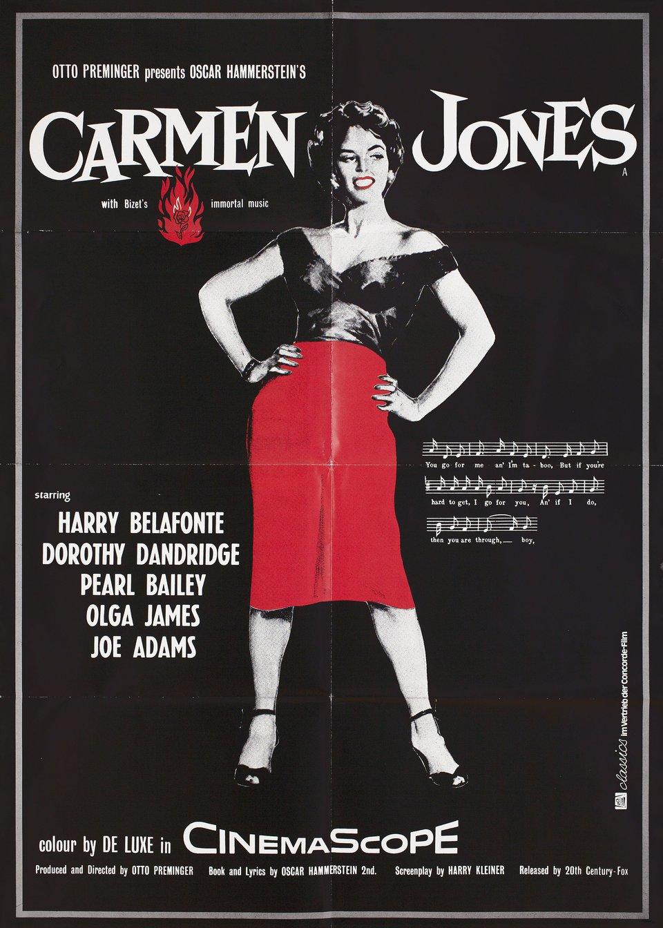 Carmen Jones R1980s German A1 Poster