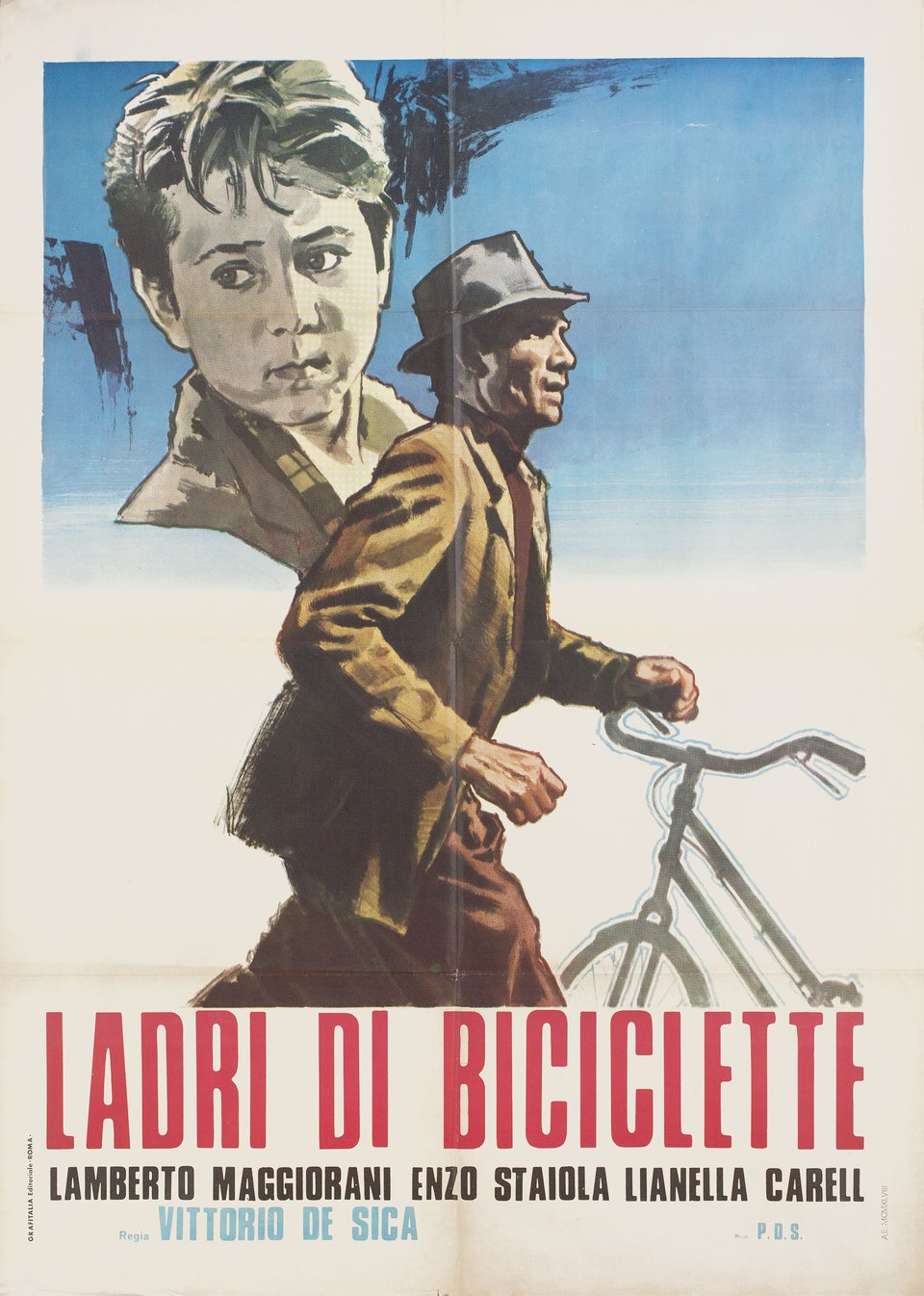 The Bicycle Thief R1958 Italian Due Fogli Poster