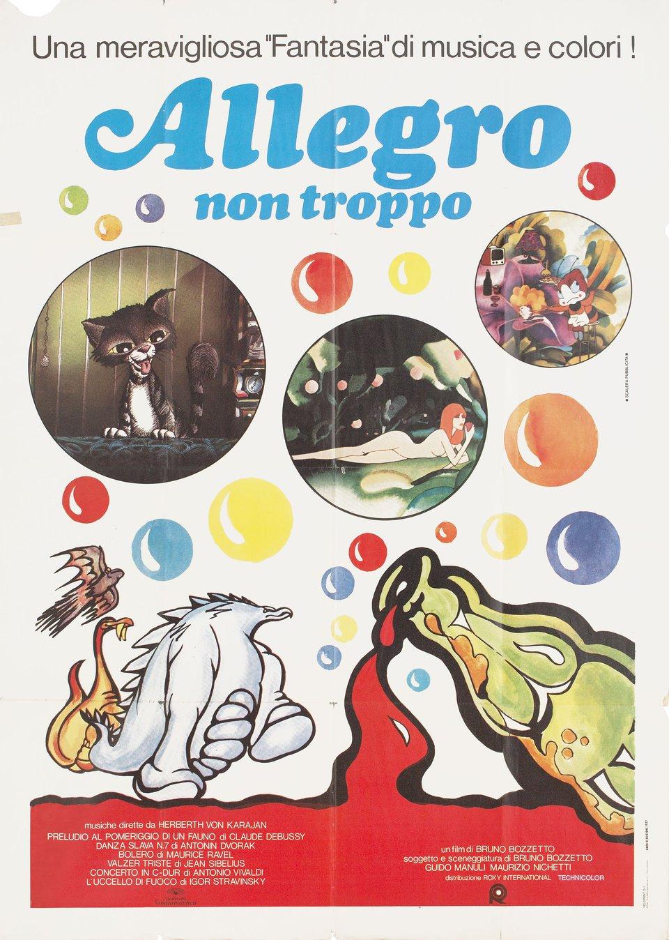 Allegro non troppo 1977 Italian Due Fogli Poster