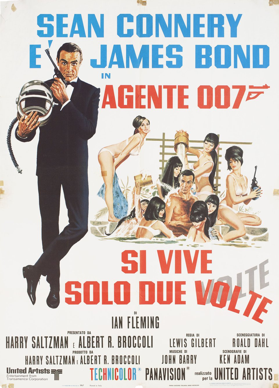 You Only Live Twice R1970s Italian Due Fogli Poster