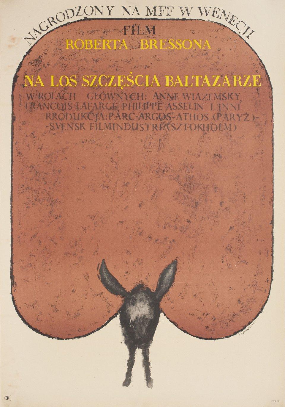 Au Hasard Balthazar 1966 Polish A1 Poster