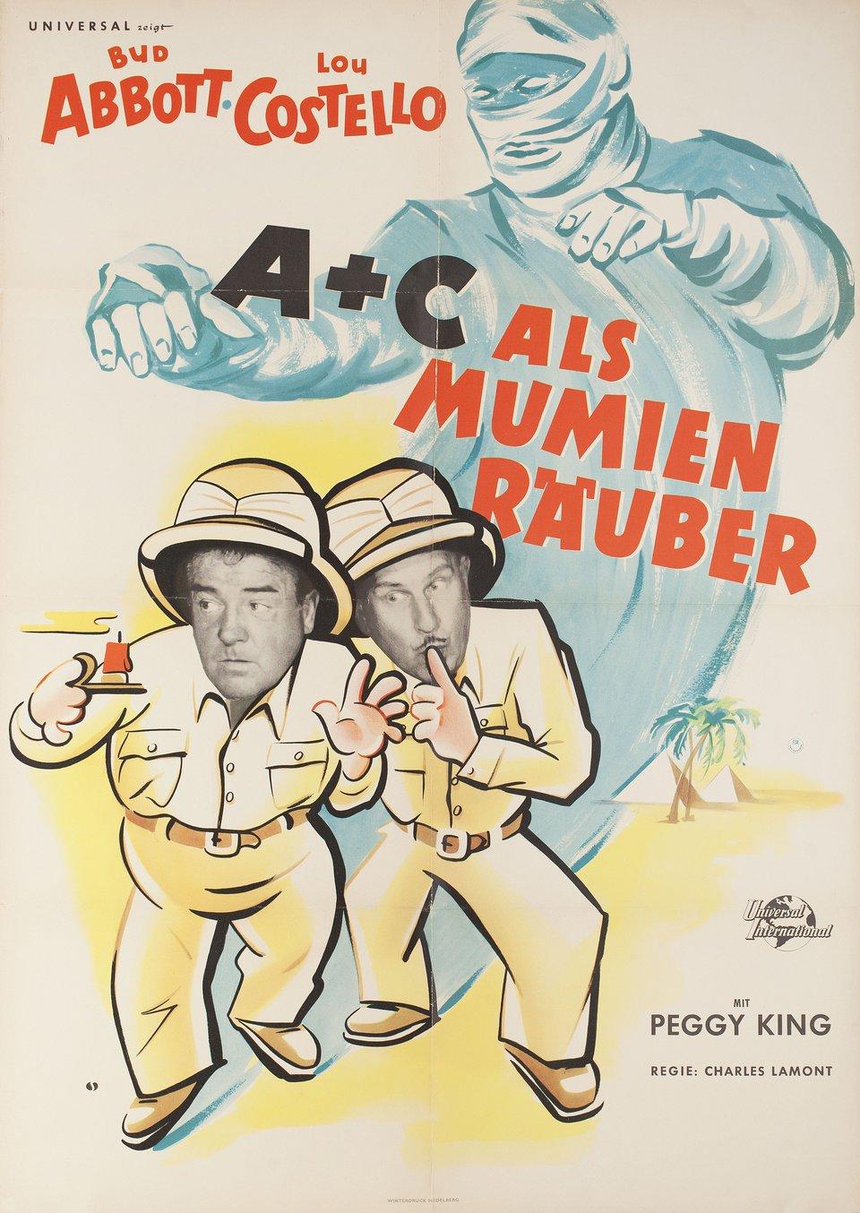 Abbott and Costello Meet the Mummy 1955 German A1 Poster