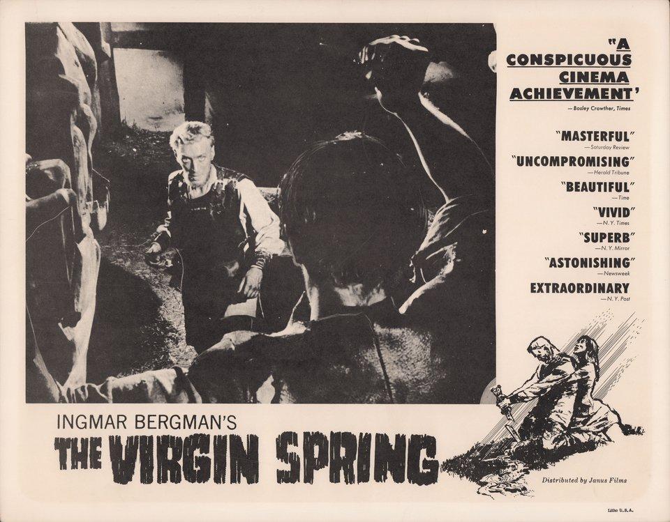 The Virgin Spring 1960 U.S. Scene Card