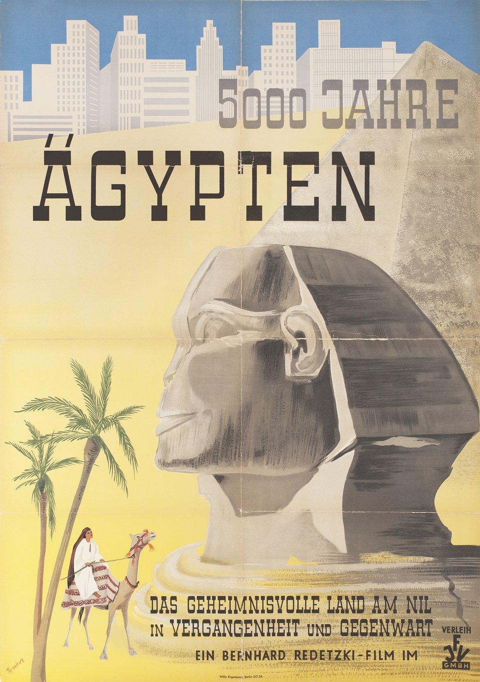 5000 Jahre Agypten 1953 German A1 Poster