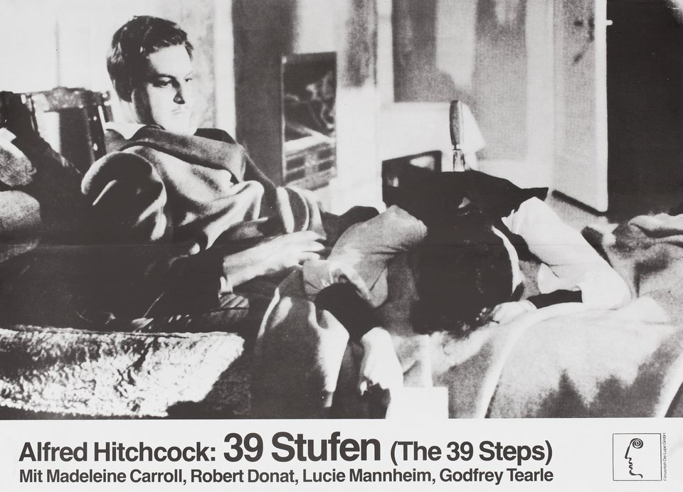 The 39 Steps R1970s German A2 Poster