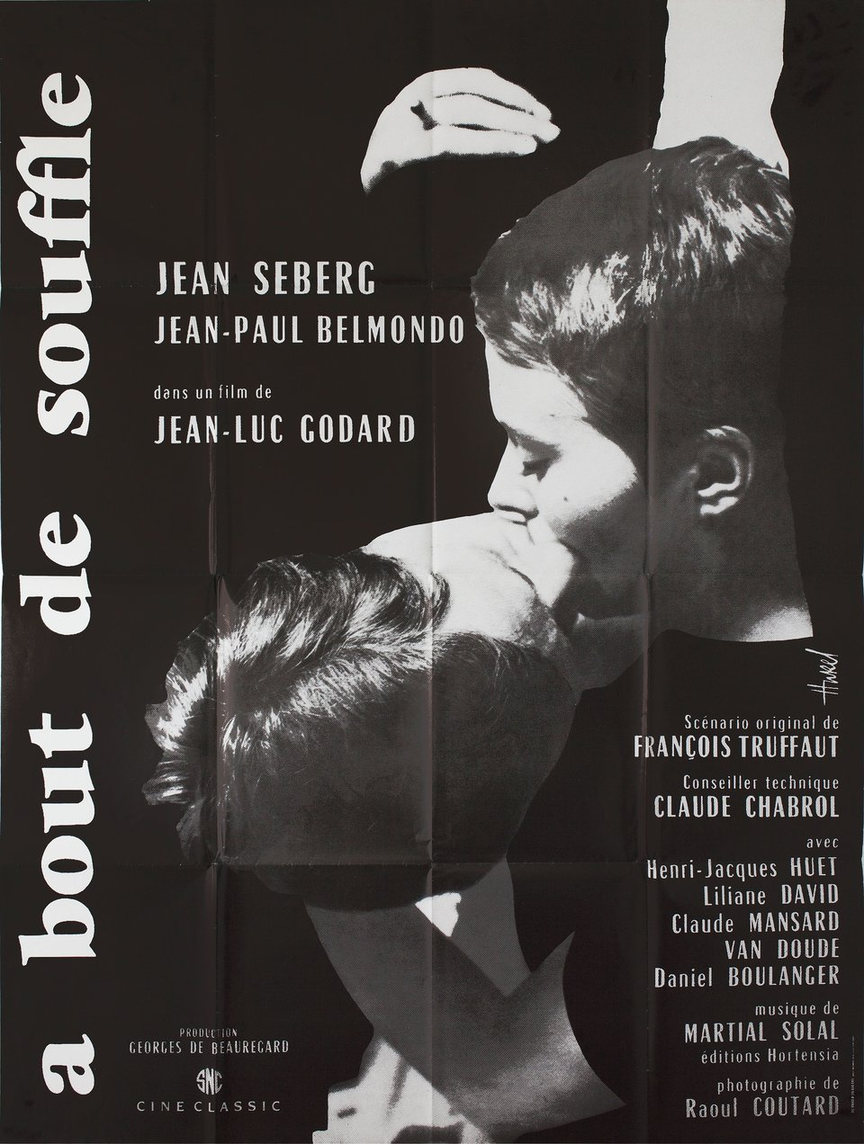 Breathless R1980s French Grande Poster