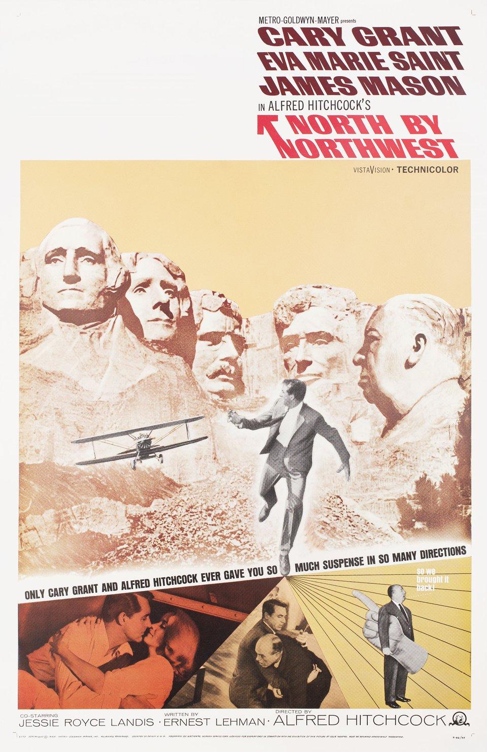 North by Northwest R1966 U.S. One Sheet Poster